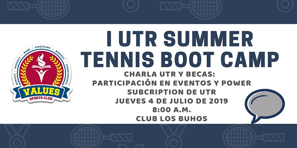 💬Charlas Becas: Participación en eventos UTR 🎾🤓