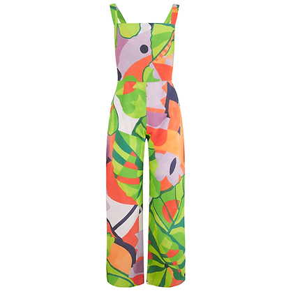 The Nightingale Jumpsuit in Pastel Print