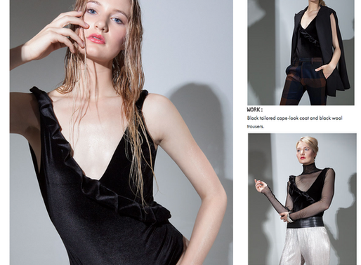 'STIDSTON'S SLEEK SWIMSUITS MAKE THE TRANSITION FROM BEACH TO WORK TO PLAY IN THE BLINK OF AN EYE'