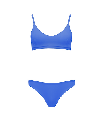 The Saunton Bikini in Azure