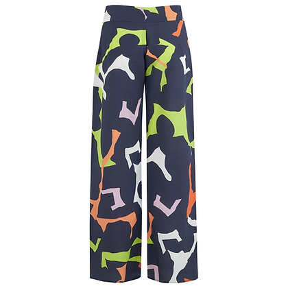 The Starling Trousers in Navy Print