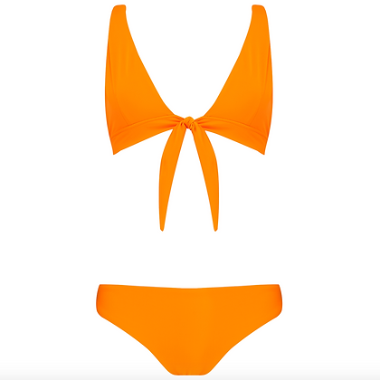 The Milton Tie in Tangerine