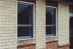 Flyscreen, vertical sliding window, fly insect  screen Kent catering food kitchen black pvc coated fibreglass mesh