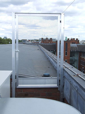 screen gate  pigeon netting roof access strong aluminium  lockable
