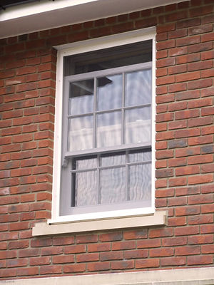 Flyscreen fly insect screen  integrated timber box sash window domestic house black pvc coated fibreglass mesh