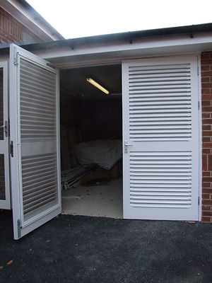 Large Factory Flyscreen fly insect screen easy clean cleaning louvre  Door