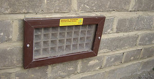 air brick airbrick screen screens white brown aluminium stainless steel mesh mouse vermin rat