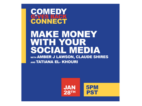 Comedy Gives Back Connect For Comedians: How to Make Money Online