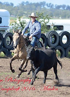 John competing on one of the Attards Campdrafting team at Tannymorel.