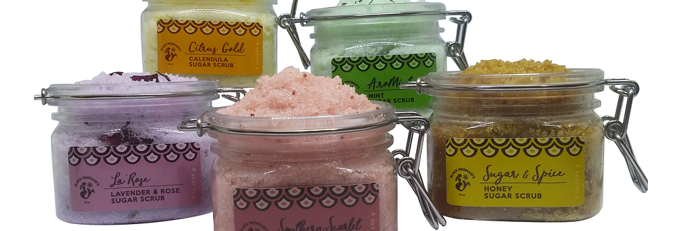 Sugar Scrubs 7 oz Hinge Jars