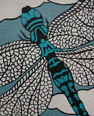Detail - Dragonfly (Mural 2020)
