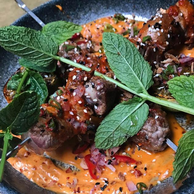 Brocheta Curry BBQ