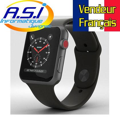 Montre connectée Apple Watch Series 3 Gris sidéral 42mm Noir et Gris