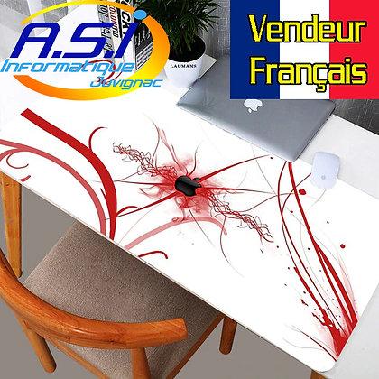 Tapis de souris Gaming Pomme XL Grand Format rouge blanc gamer VENDEUR FRANCAIS