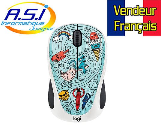 Logitech Souris sans Fil M238 Doodle Collection +15 Stickers VENDEUR FRANÇAIS