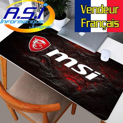 Grand Tapis de souris Gamer ordinateur MSI Rouge Noir lave XL VENDEUR FRANCAIS