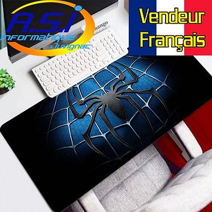Grand Tapis souris XL Gaming Jeu ordinateur PC Mac Spiderman Araignée Bleu