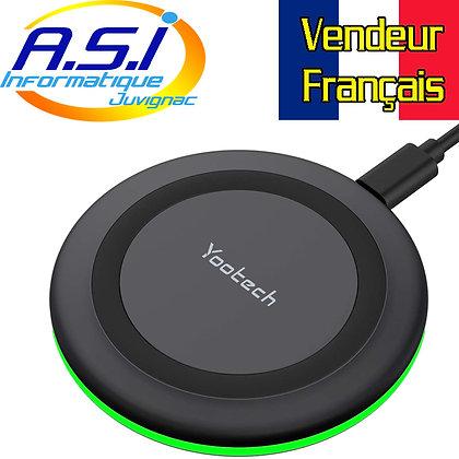 Chargeur sans Fil  à Induction pour Smartphone, écouteurs etc...