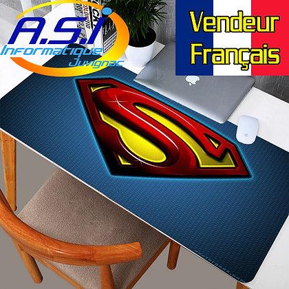 Grand Tapis de souris Gamer Gaming ordinateur jeu Superman XL VENDEUR FRANCAIS
