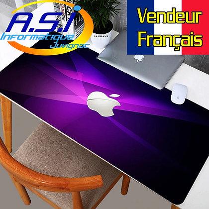 Tapis de souris Gaming XL Grand Format noir violet gamer VENDEUR FRANCAIS