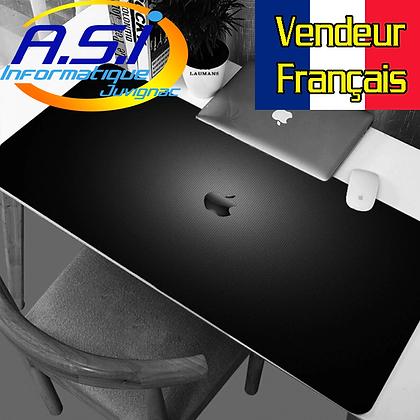 Tapis de souris Gaming Pomme XXL Grand Format Noir gamer VENDEUR FR