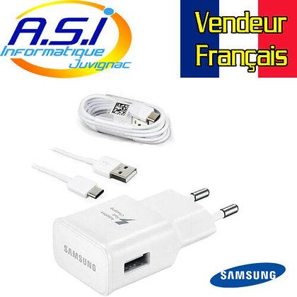 Chargeur Téléphone Smartphone USB-C Samsung 5v 2A VENDEUR FRANCAIS