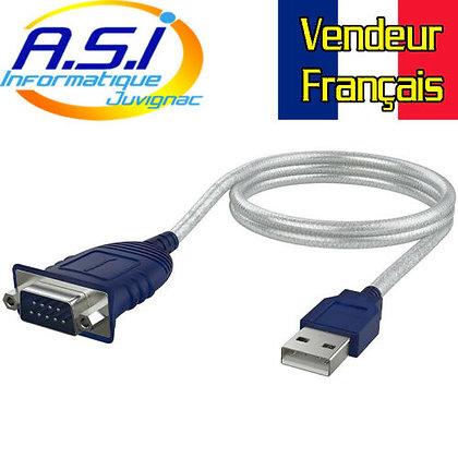 Sabrent câble Adaptateur DB-9 RS-232 (9 Broches) vers USB 2.0.Vendeur Français