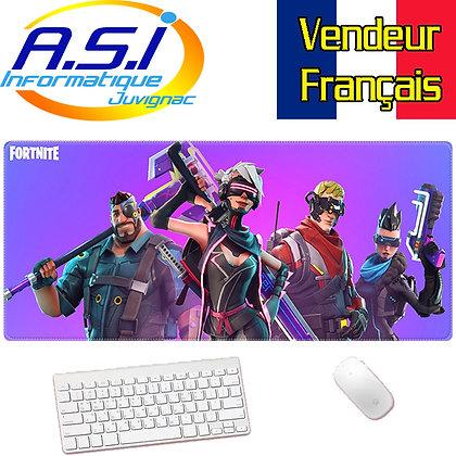 Grand Tapis de souris Gamer Gaming Joueur ordinateur jeu Fortnite XL Violet rose