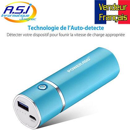 Batterie Externe 5000mAh Chargeur Portable Batterie de Secours Externe Via USB
