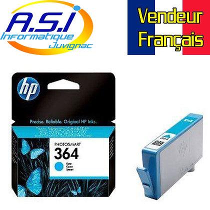 Cartouche d'encre HP 364 CYAN (bleu)