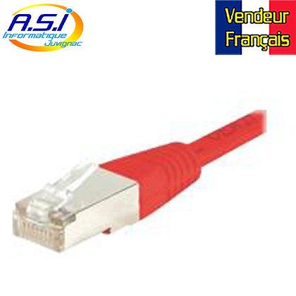 Câble rj45 cat5e rouge 2m ethernet réseau VENDEUR FRANÇAIS
