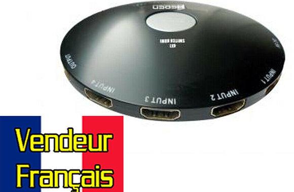 Switch HDMI 3 entrées Femelles 1 sortie Mâle Full HD 3D VENDEUR FRANCAIS