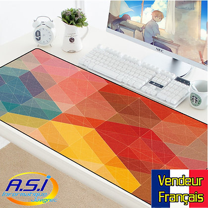 Tapis souris Gamer Damier Multicolore design XXL Grand format VENDEUR FRANÇAIS