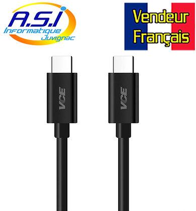 Câble USB C / USB C 2m de Charge et Sync VENDEUR FRANÇAIS