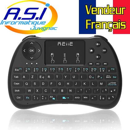 Mini clavier + PAD sans fil pour Smart TV, Android TV, Raspberry, Kodi et PC