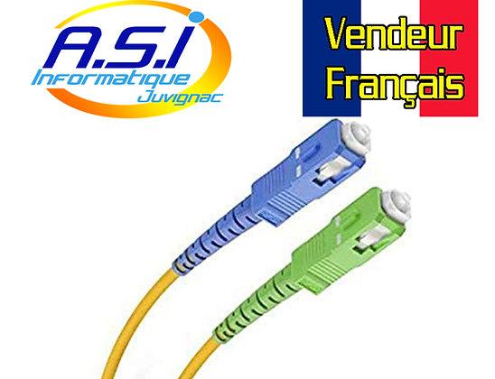 Câble Fibre Optique SC APC / SC UPC Jarretière Freebox Free 1m