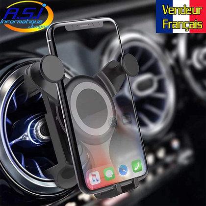 Support Auto Téléphone portable  fixation Smartphone Aération ronde