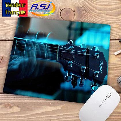 Tapis de souris Musicien Guitare  Bleu Musique Guitariste