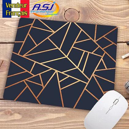 Tapis de souris Ordinateur Forme géometrique graphique Triangle Losange noir Or