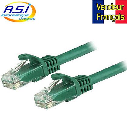 Câble rj45 cat5e vert 2m ethernet réseau VENDEUR FRANÇAIS