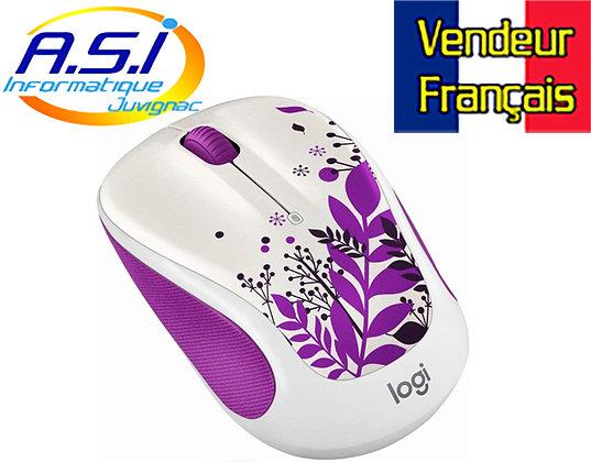 Souris sans fil Optique M315c Logitech Blanc et Violet VENDEUR FRANÇAIS