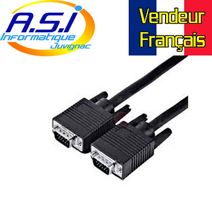 Câble VGA 20m pour ordinateur PC VENDEUR FRANÇAIS