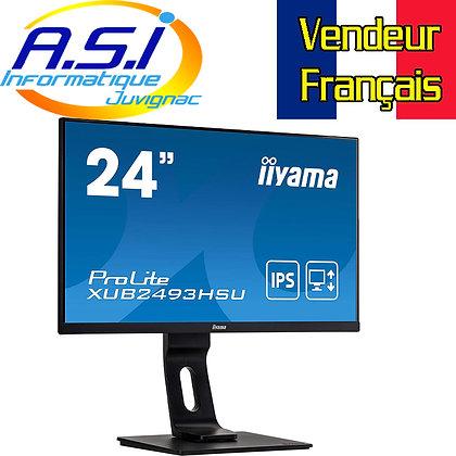 "Ecran 24"" pouces  IIYAMA LED HDMI VGA Display port 4ms noir 1080p Full HD"