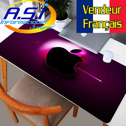 Tapis de souris Gaming XL Grand Format noir rose gamer VENDEUR FRANCAIS