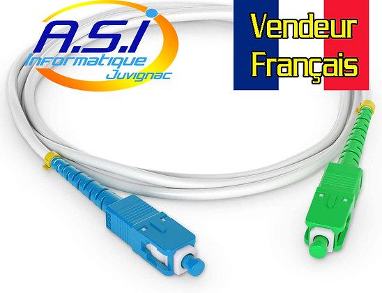 Câble Fibre Optique SC APC / SC UPC Jarretière Freebox Free 3m VENDEUR FRANCAIS