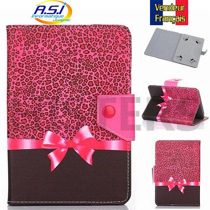 """Coque universel Housse universelle tablette 10"""" pouces paquet cadeau noeud rose"""