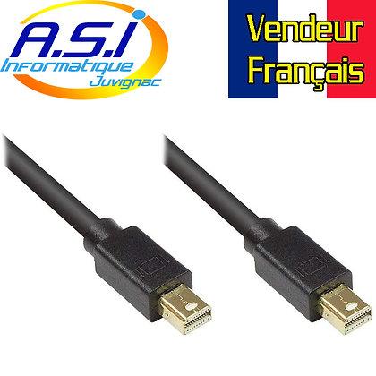 Câble mini displayport display port 5m  PC écran TV VENDEUR FRANCAIS