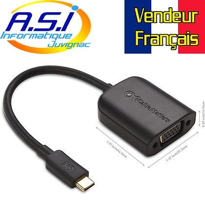 Câble adaptateur USB-c (Thunderbolt 3) vers VGA