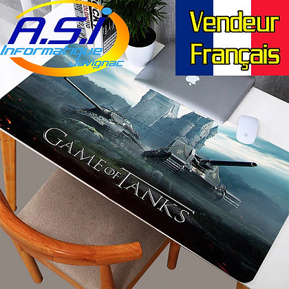 Grand Tapis de souris Gaming Jeu Game of Tanks VENDEUR FRANÇAIS