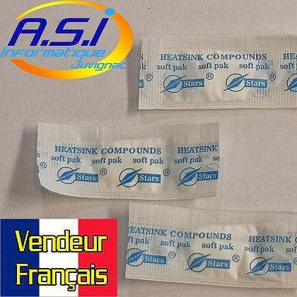 Lot de 3 doses (sachet) de Pate / graisse thermique blanche STARS